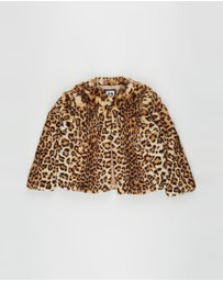 Cotton On Kids - Charlie Faux Fur Jacket - Kids-Teens