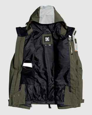 DC Shoes Mens Defiant Snow Jacket - Coats & Jackets (OLIVE NIGHT)