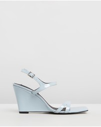 Caverley - Mercedes Leather Wedge Heels