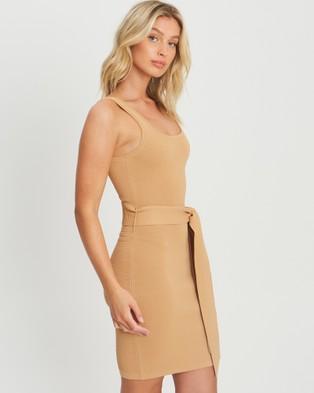 BWLDR Nova Knit Dress - Dresses (Tan)