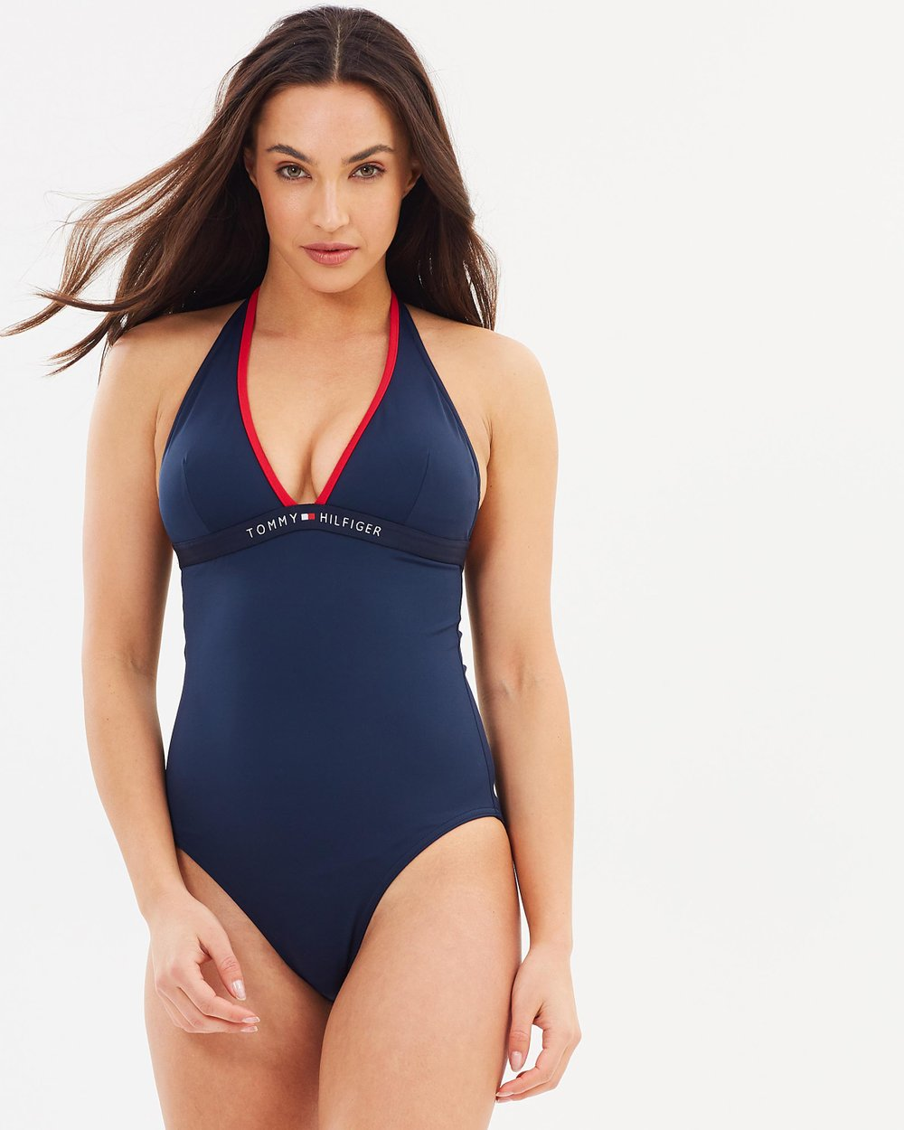 40f85a8c4 Core Solid Logo One Piece by Tommy Hilfiger Online | THE ICONIC | Australia