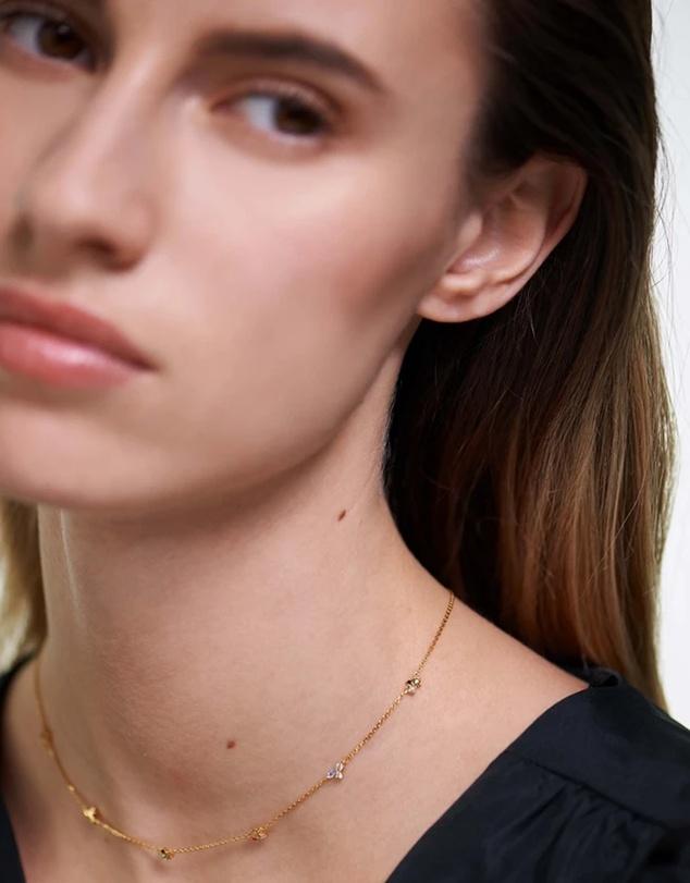 Women La Palette Gold Necklace