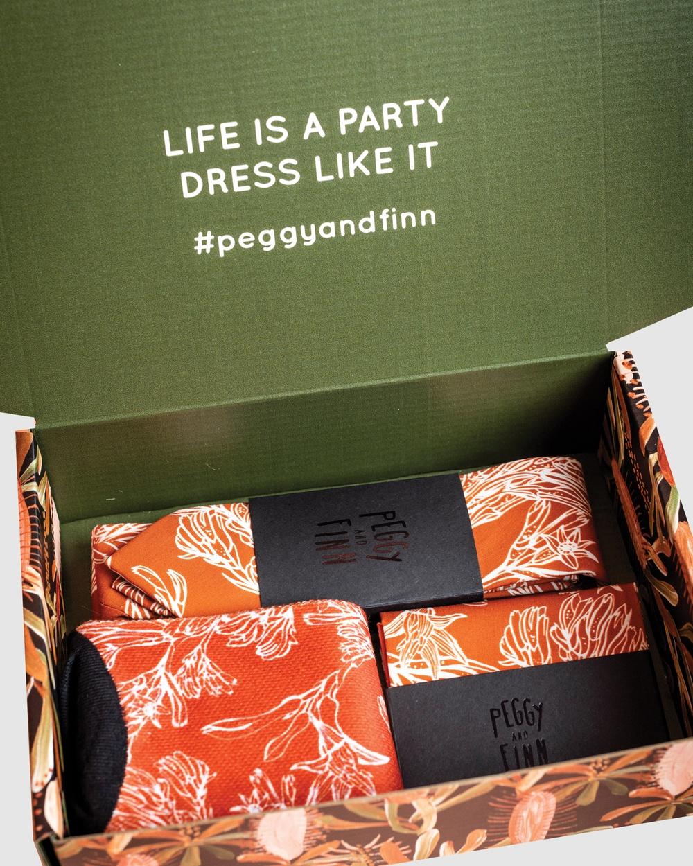 Peggy and Finn Kangaroo Paw Tie Gift Box Ties Orange Australia
