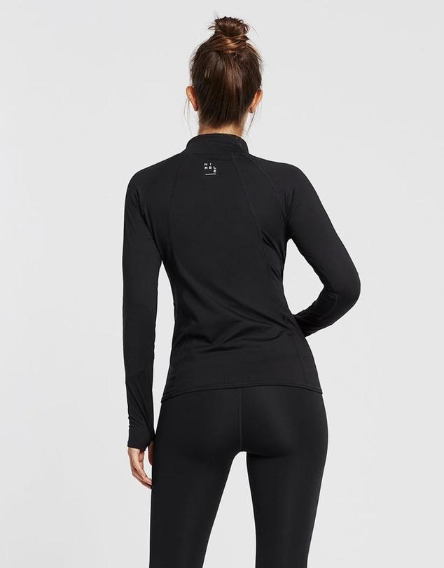 Women Warm Up 1/2 Zip Long Sleeve Top