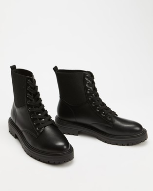 Dazie Franco Ankle Boots - Boots (Black Smooth)