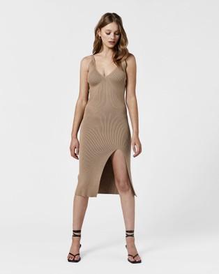 MVN Oceanside Knit Dress - Bodycon Dresses (Latte)