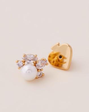 Kate Spade Little Gem Cluster Studs - Jewellery (Cream & Gold)