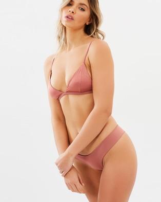 Bond-Eye Swimwear – Suns Out Reversible Briefs – Bikini Bottoms (Rose Gold)