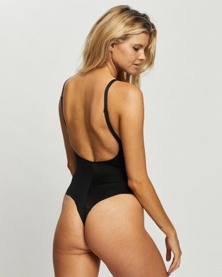 Spanx Suit Your Fancy Plunge Low Back Thong Bodysuit - Thongs & G-Strings (Very Black)