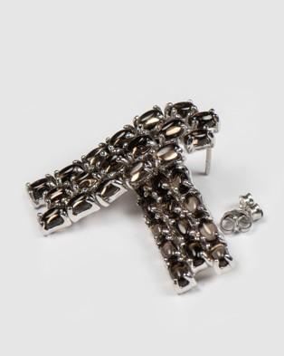 Marlafiji Angelina Waterfall Earrings - Jewellery (Brown)