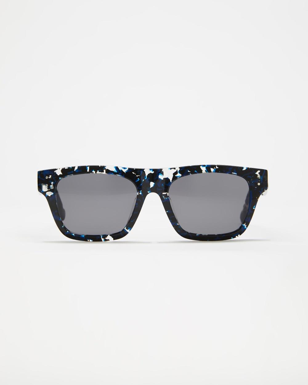 Le Specs Motif Sunglasses Black Navy Agate Australia
