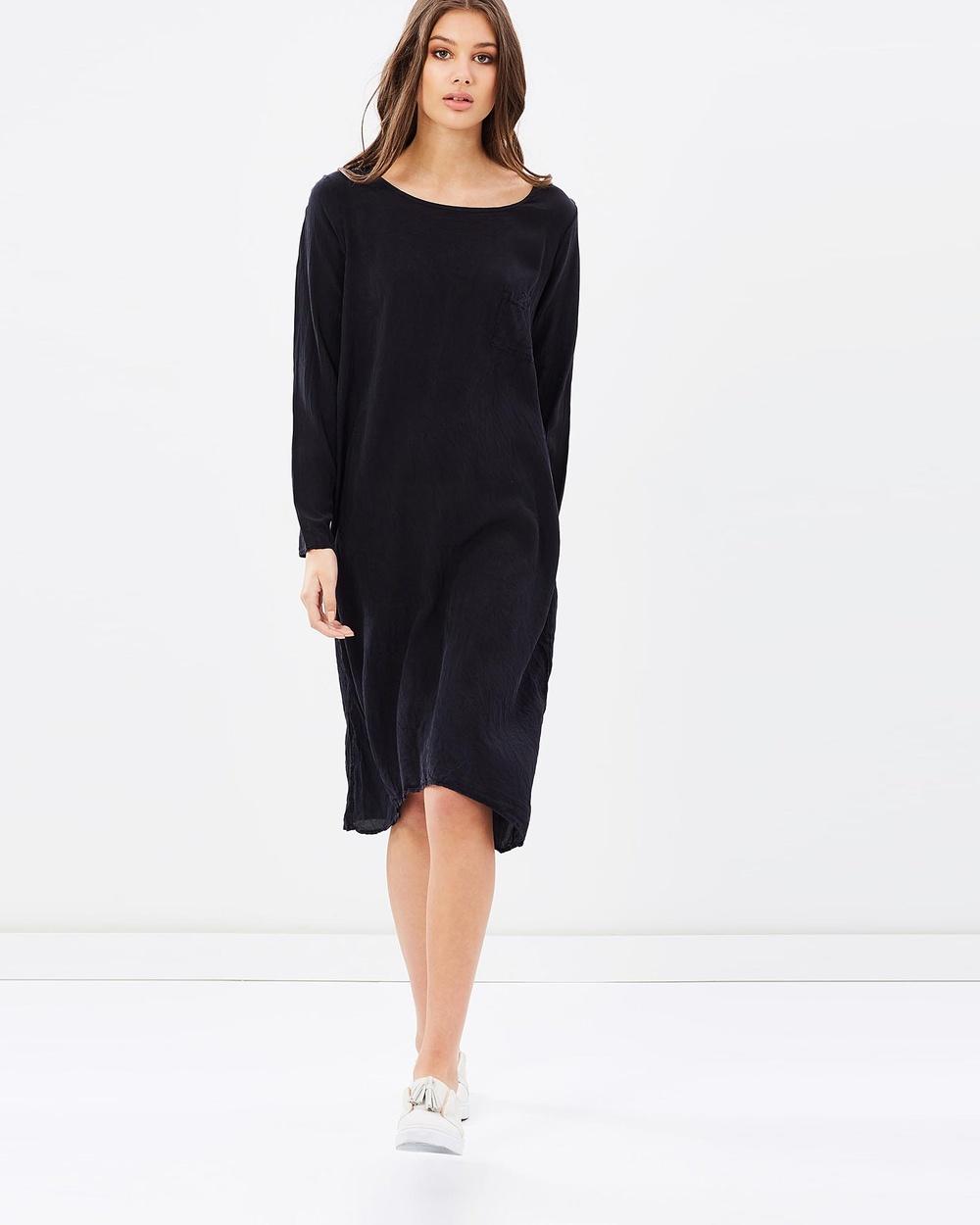Primness Slouched Dress Dresses Black Slouched Dress
