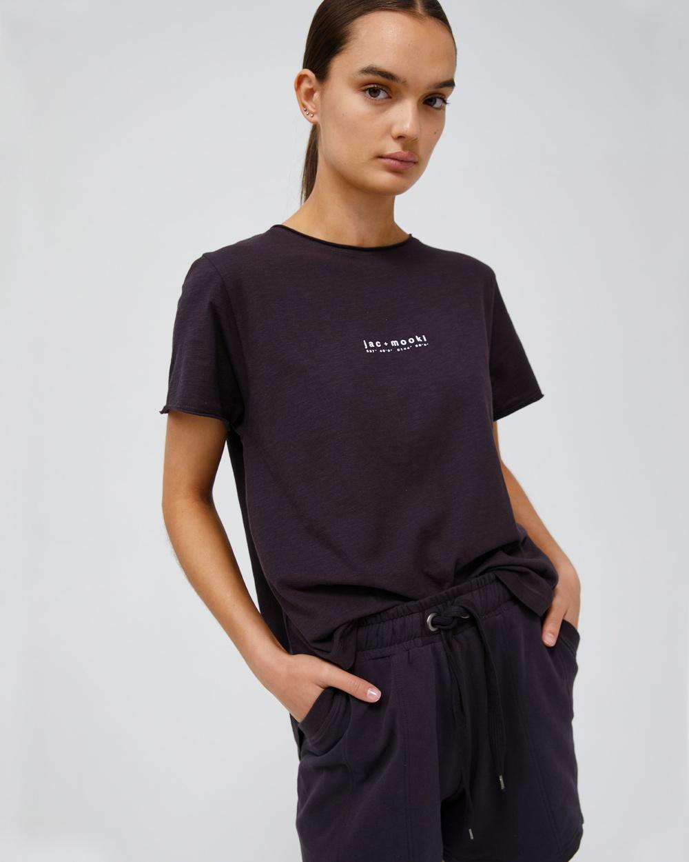 Jac & Mooki Kendall Tee T-Shirts Singlets vintage black