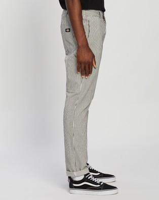 Dickies Kempton Slim Straight Fit Carpenter Pants - Pants (Black Hickory Stripe)
