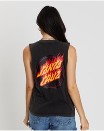Santa Cruz - Flaming Dot Muscle Tank