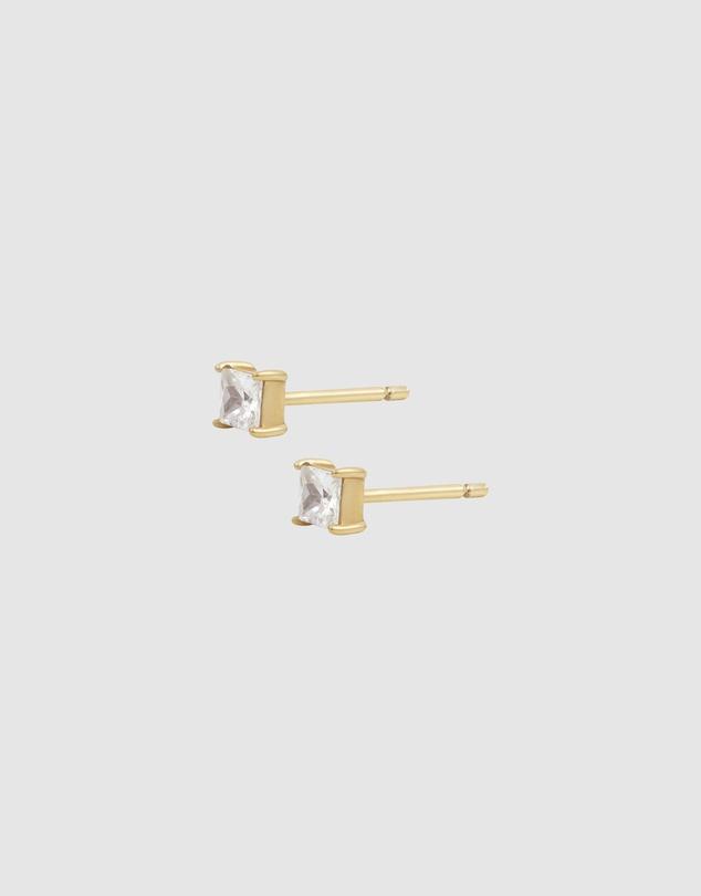 Women Princess Topaz 14K Gold Vermeil Earrings