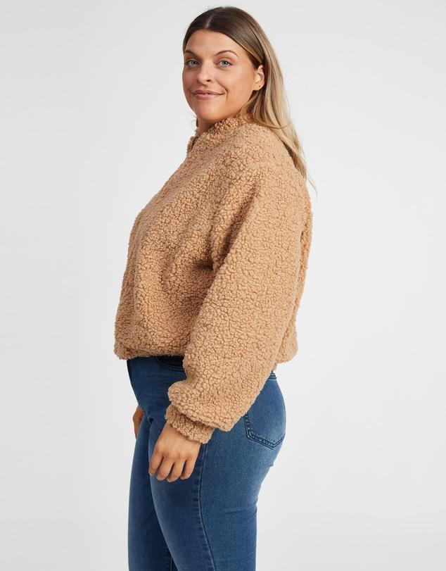 Women Minnie Teddy Bomber Jacket