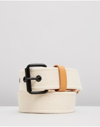 Scotch & Soda - Leather-Trimmed Canvas Tape Belt