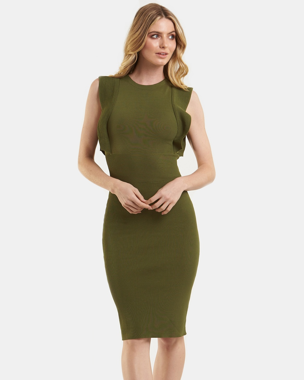 Amelius Obsessed Knit Dress Bodycon Dresses Khaki Obsessed Knit Dress