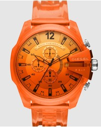 Diesel - Mega Chief Orange Chronograph Watch DZ4533