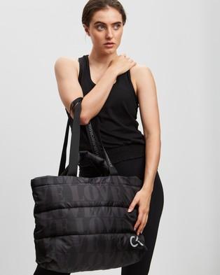 Calvin Klein Performance Love Print Tote - Bags (Black Gunmetal Love Print)