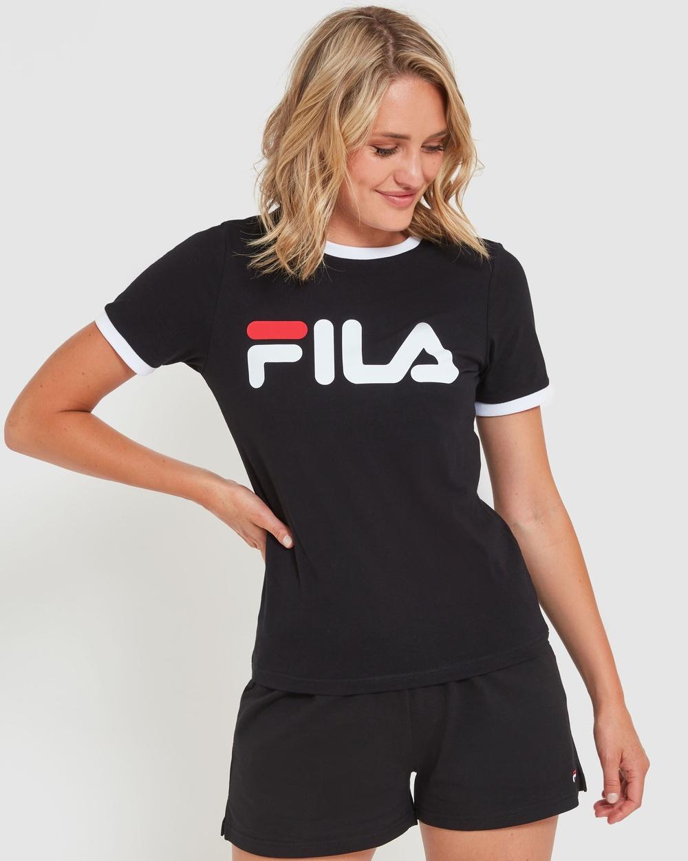 Fila Classic Ringer Tee T-Shirts & Singlets Black Australia