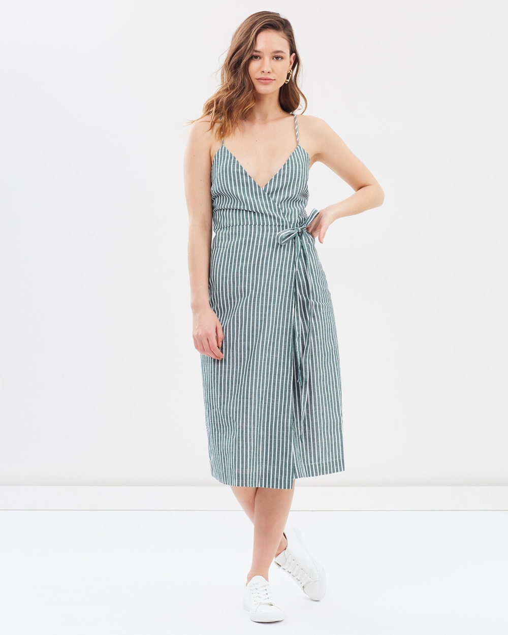 Photo of Nude Lucy Green Stripe Malloy Wrap Dress - buy Nude Lucy dresses on sale online