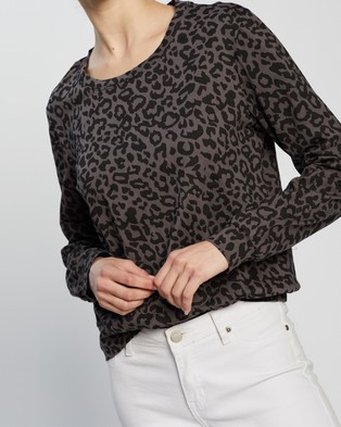Atmos&Here Pixie Relaxed Lounge Sweat Top - Sweats (Charcoal Animal)