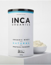 Inca Organics - Certified Organic Whey Protein Powder - Natural (Unflavoured) - 400g