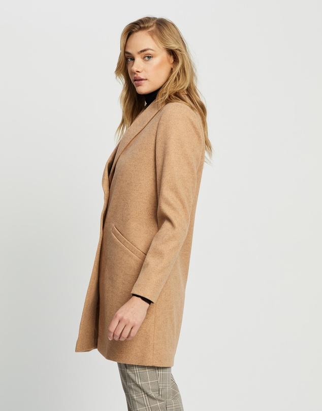 Women Shawl Collar Coat