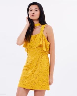 MINKPINK – Enchantress Frill Dress Yellow
