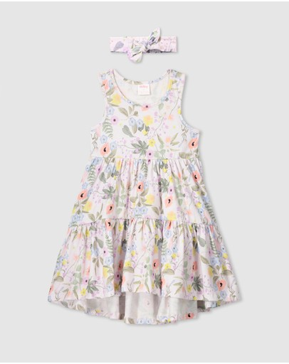 Milky - Spring Floral Dress & Headband - Kids