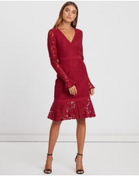 CHANCERY - Vally Lace Midi Dress