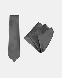 Buckle - Pinstripe Tie & Pocket Square Set