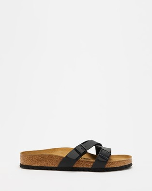 Birkenstock - Yao Birko Flor Regular Women's Sandals (Black) Birko-Flor