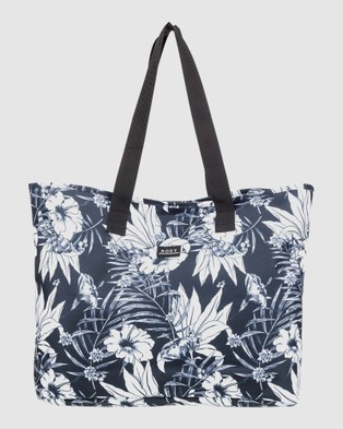 Roxy Wildflower Recycled Tote Bag - Bags (BRIGHT WHITE ENGRAVE)