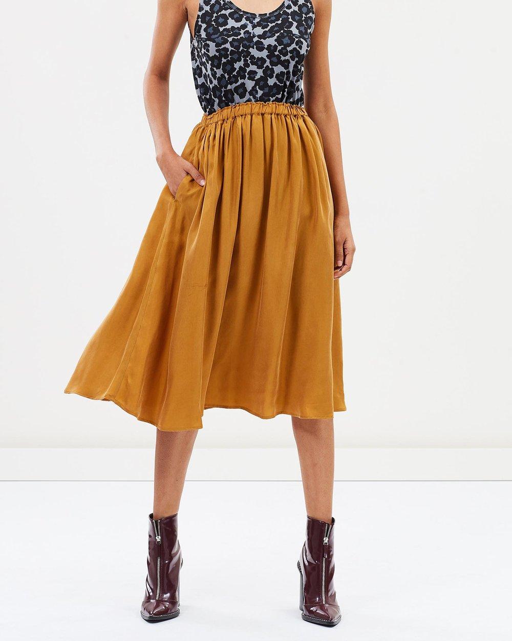7ae0113b6c Cupro Midi Skirt by Maison Scotch Online | THE ICONIC | Australia