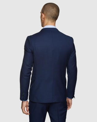 Oxford Auden Wool Suit Jacket - Suits & Blazers (Blue)