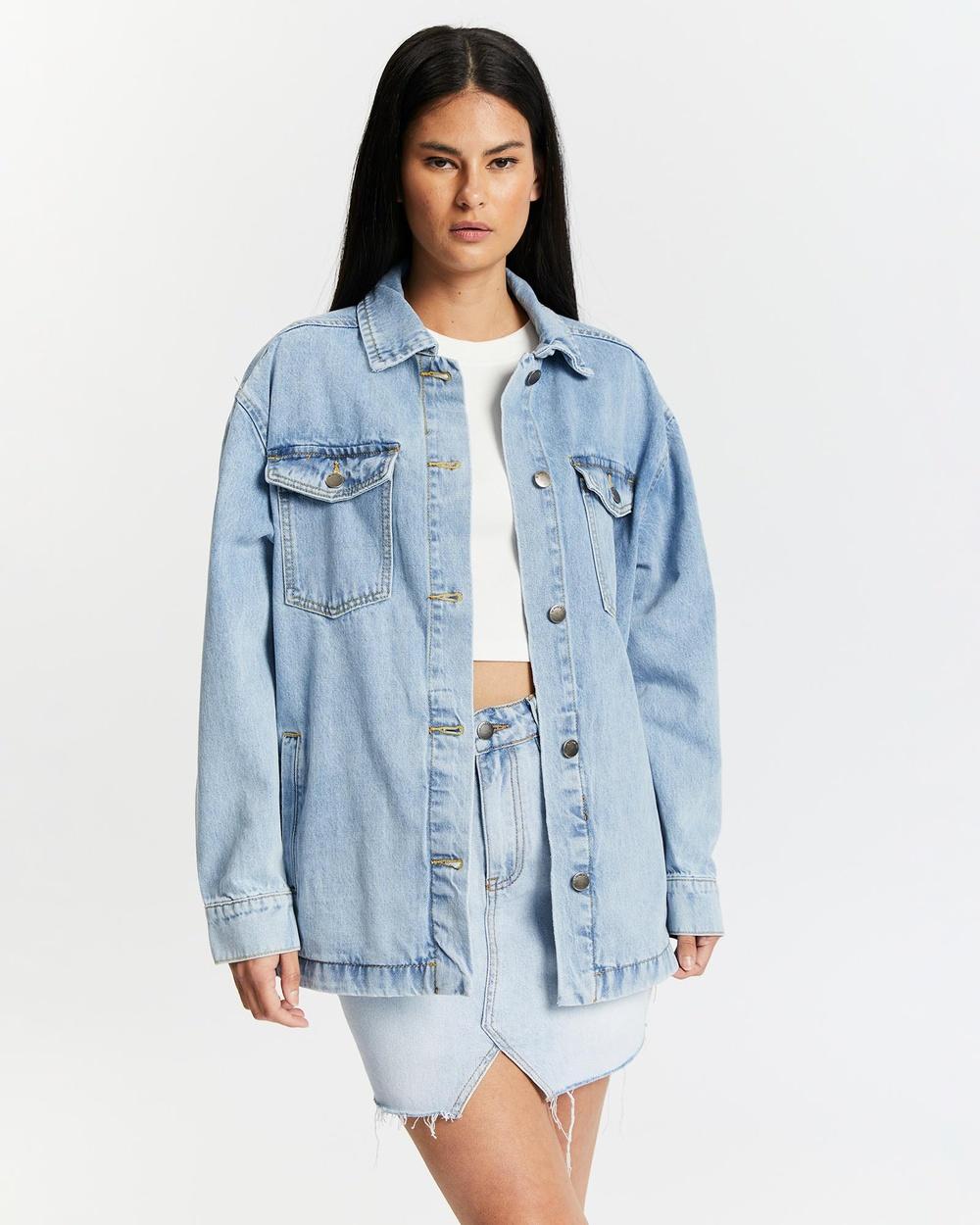 All About Eve Oakley Shacket Denim jacket Blue