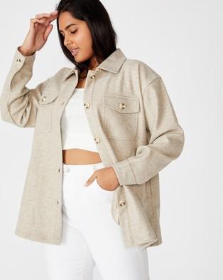 Cotton On Curve Ellie Jacket - Coats & Jackets (Oatmeal Herringbone)