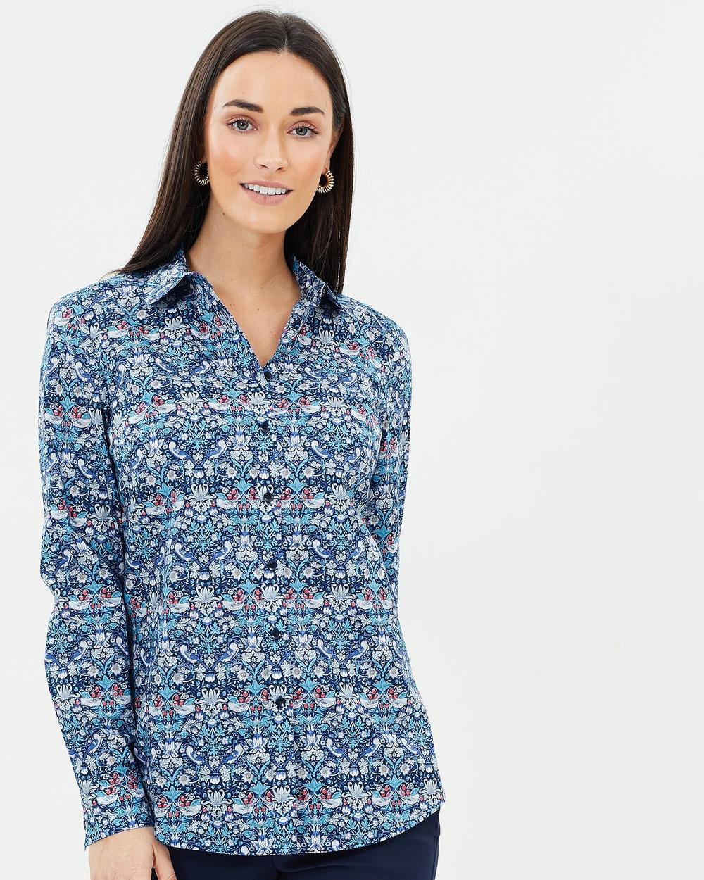 Sportscraft Erica Liberty Shirt Tops Blue Multi Erica Liberty Shirt