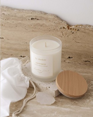 By Charlotte Happiness Affirmation Candle - Candles (White)