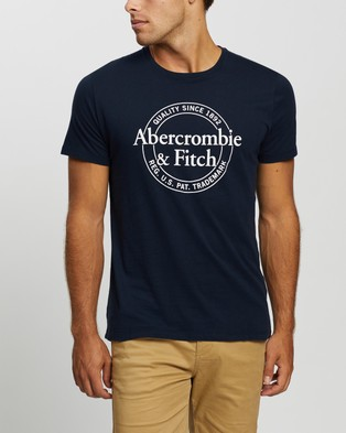 Abercrombie & Fitch Graphic Logo Neutral Tee 3 Pack - T-Shirts & Singlets (White, Blue & Grey)