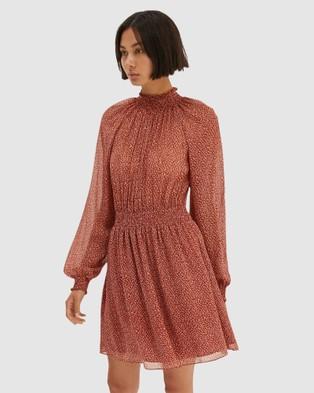SABA Filigree Silk Mini Dress - Printed Dresses (Multi)