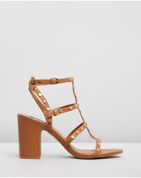 DKNY - Hanz Grainy Leather Heels