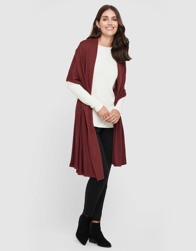 Women Bamboo Cashmere Wool Travel Wrap