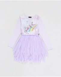 Rock Your Kid - ICONIC EXCLUSIVE - Purple Rain LS Flounce Dress - Kids-Teens