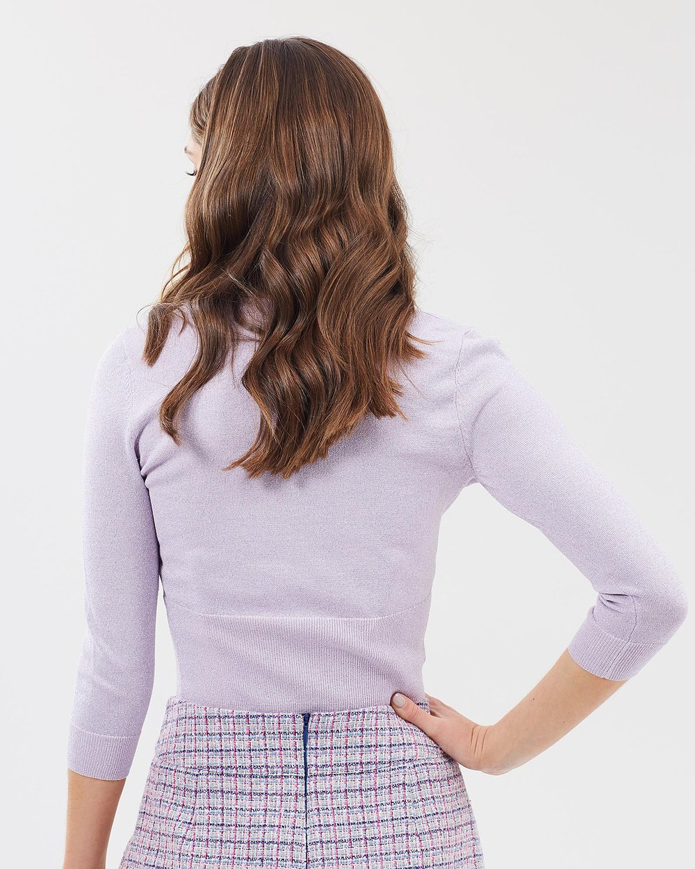 977cdf9b434 Chessie Shimmer 3 4 Sleeve Cardi by Review Online