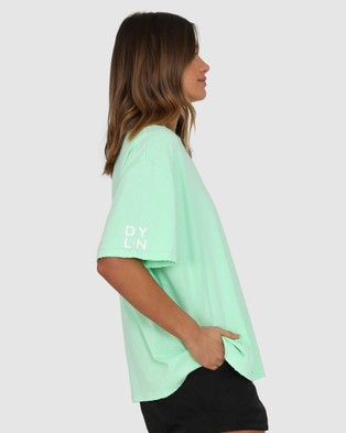BY.DYLN - Drew Tee - Tops (Lime) Drew Tee