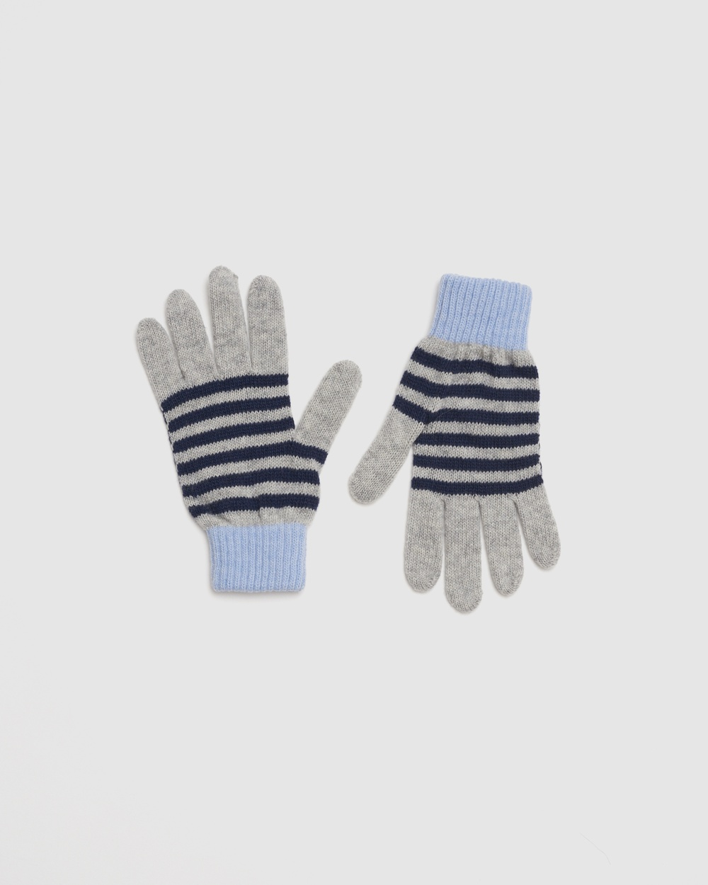 Kate & Confusion Rugby Stripe Gloves Scarves Blue